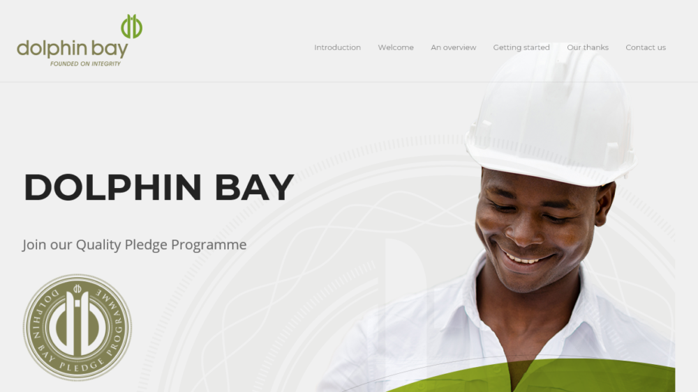 Dolphin Bay Quality Pledge website