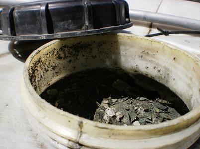 Waste washing